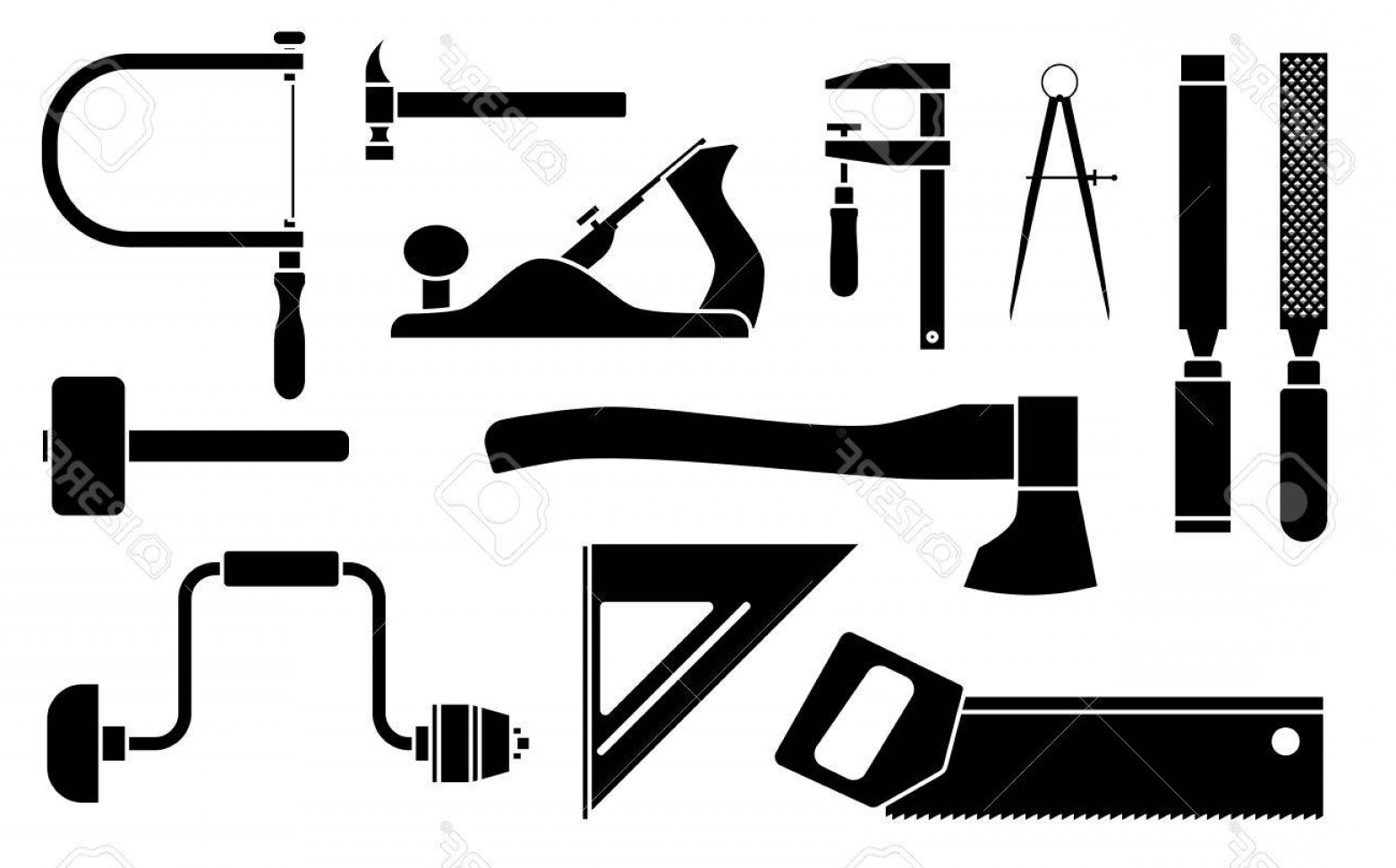 Library Of Vector Woodworking Tool Vector Download