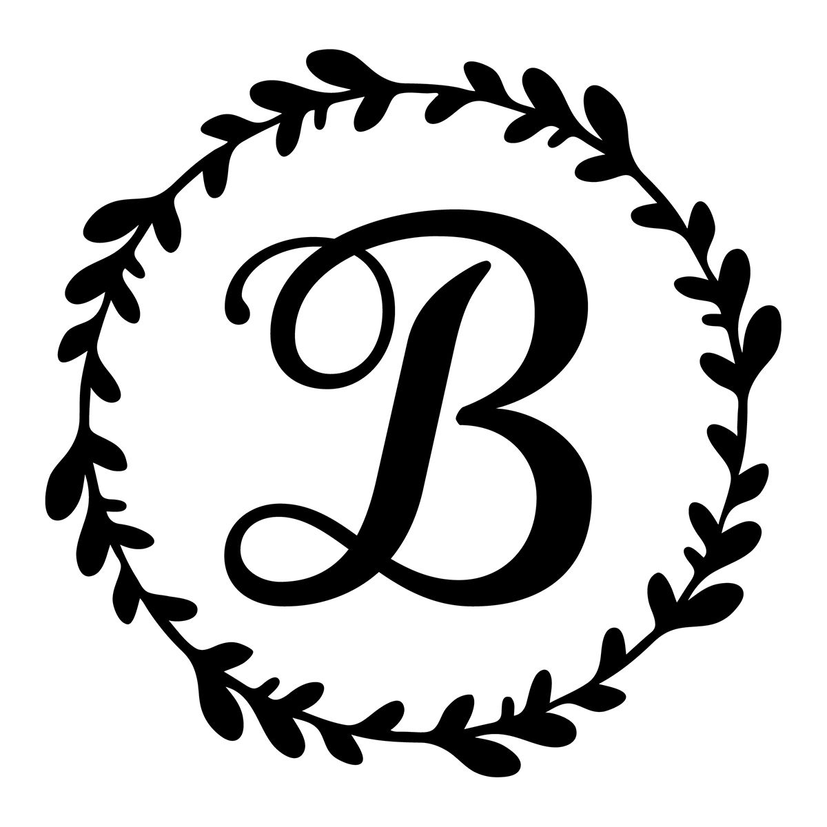 Library Of Vinyl M Monogram Initial Picture Free Stock