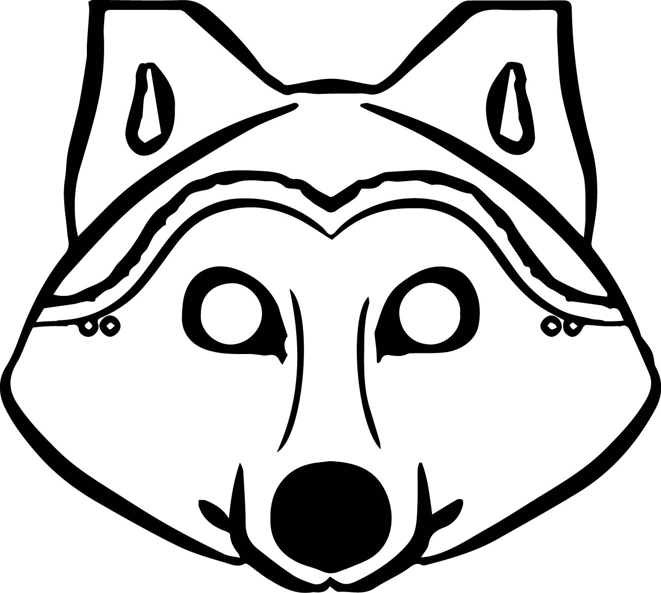 Library Of Wolf Face Mask Clipart Black And White Stock
