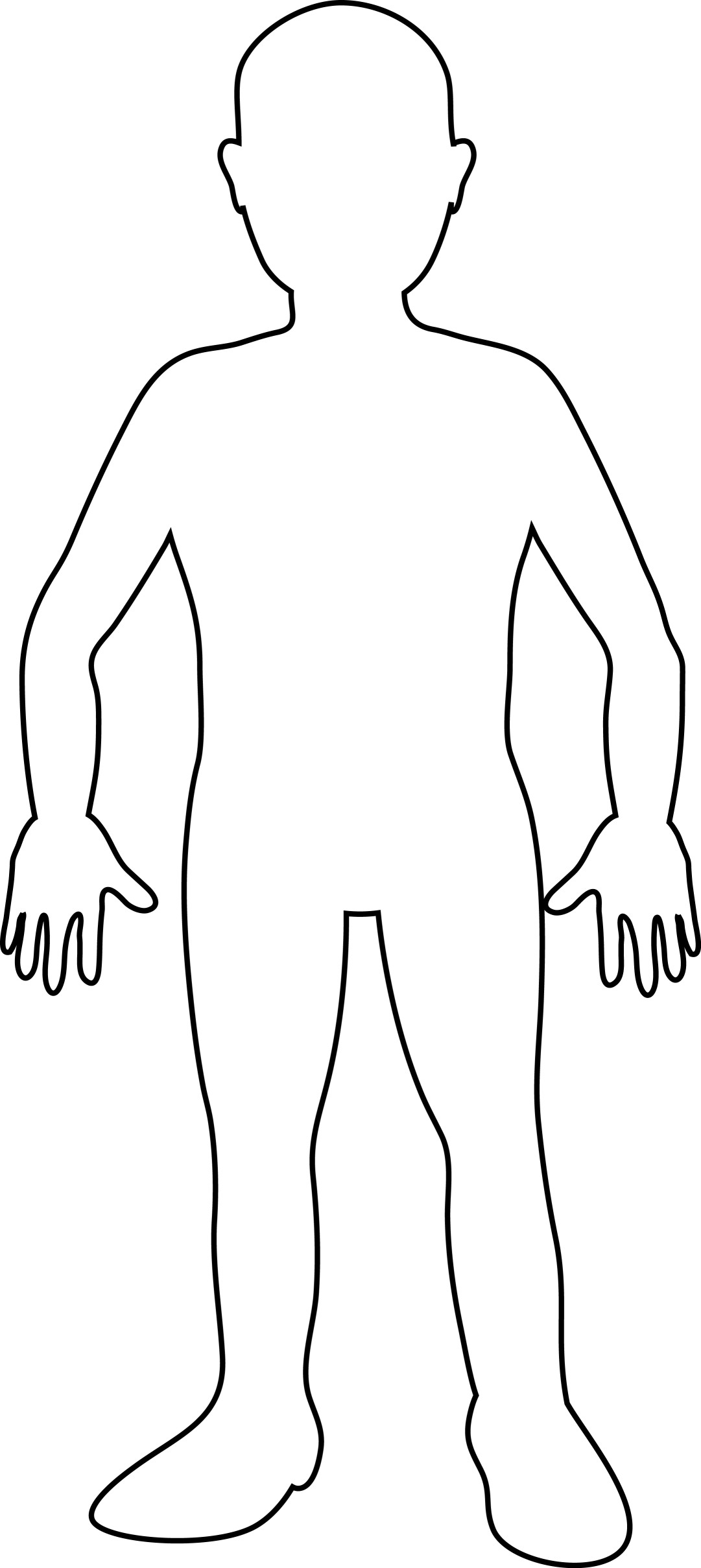 Human Body Drawing Template