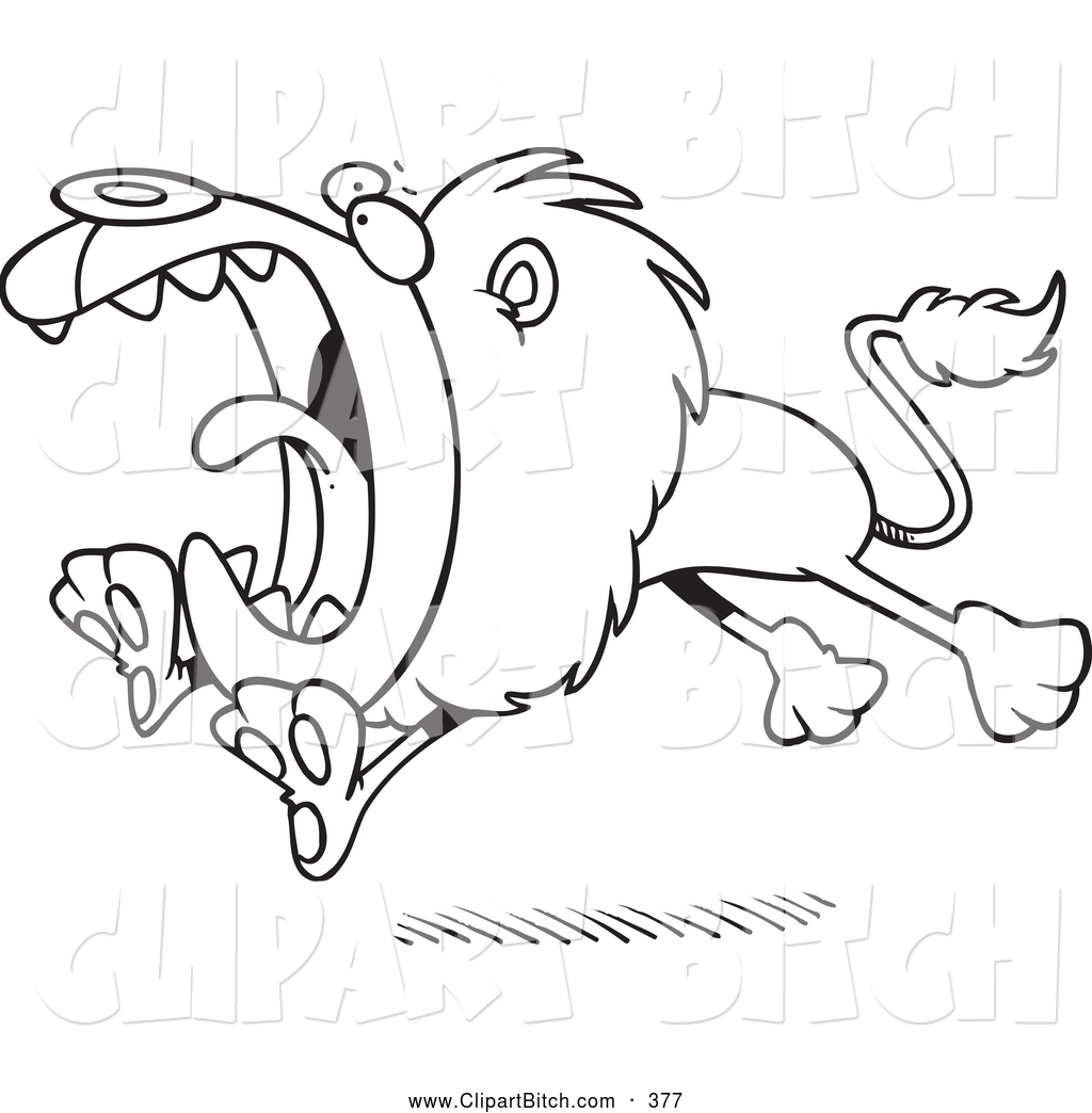 Clip Vector Cartoon Art Of A Black And Whiteing