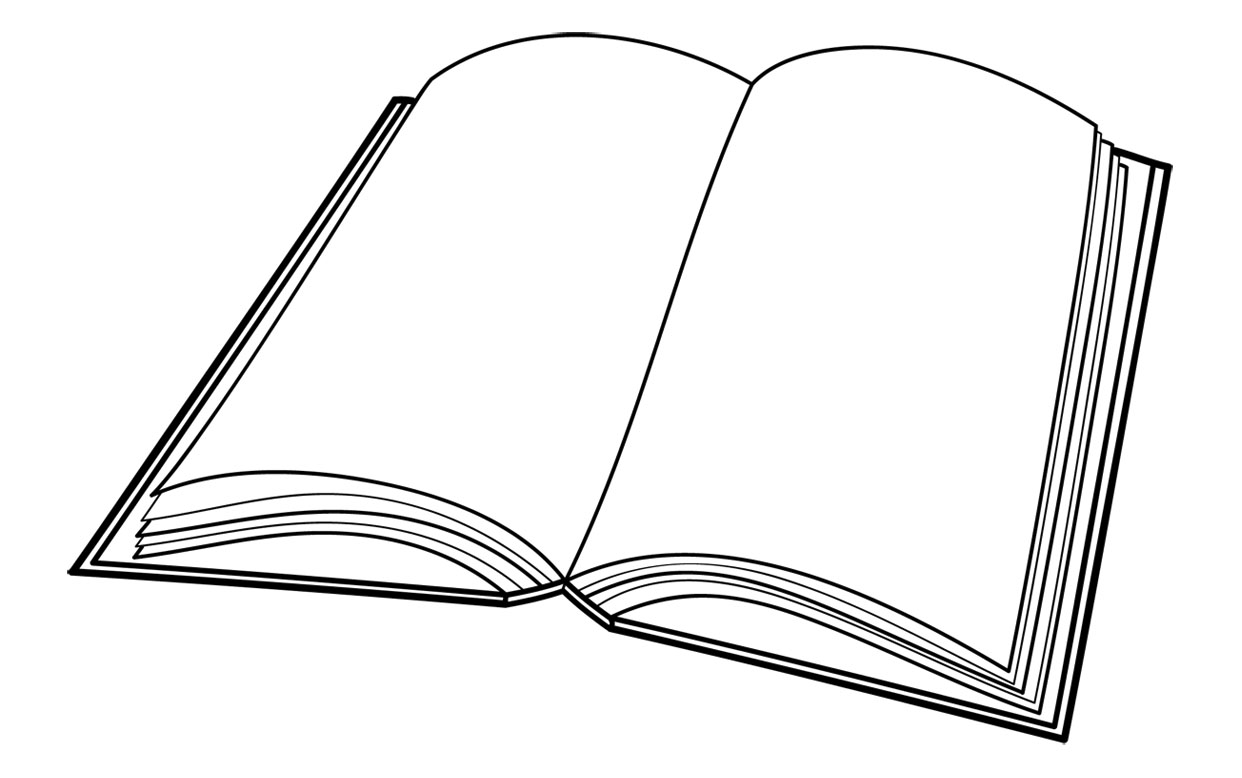 Closed Book Clipart Black And White Free Clipart