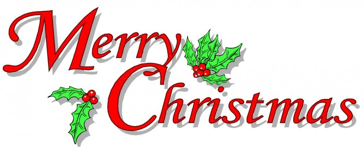 Merry christmas clip art words free clipart images