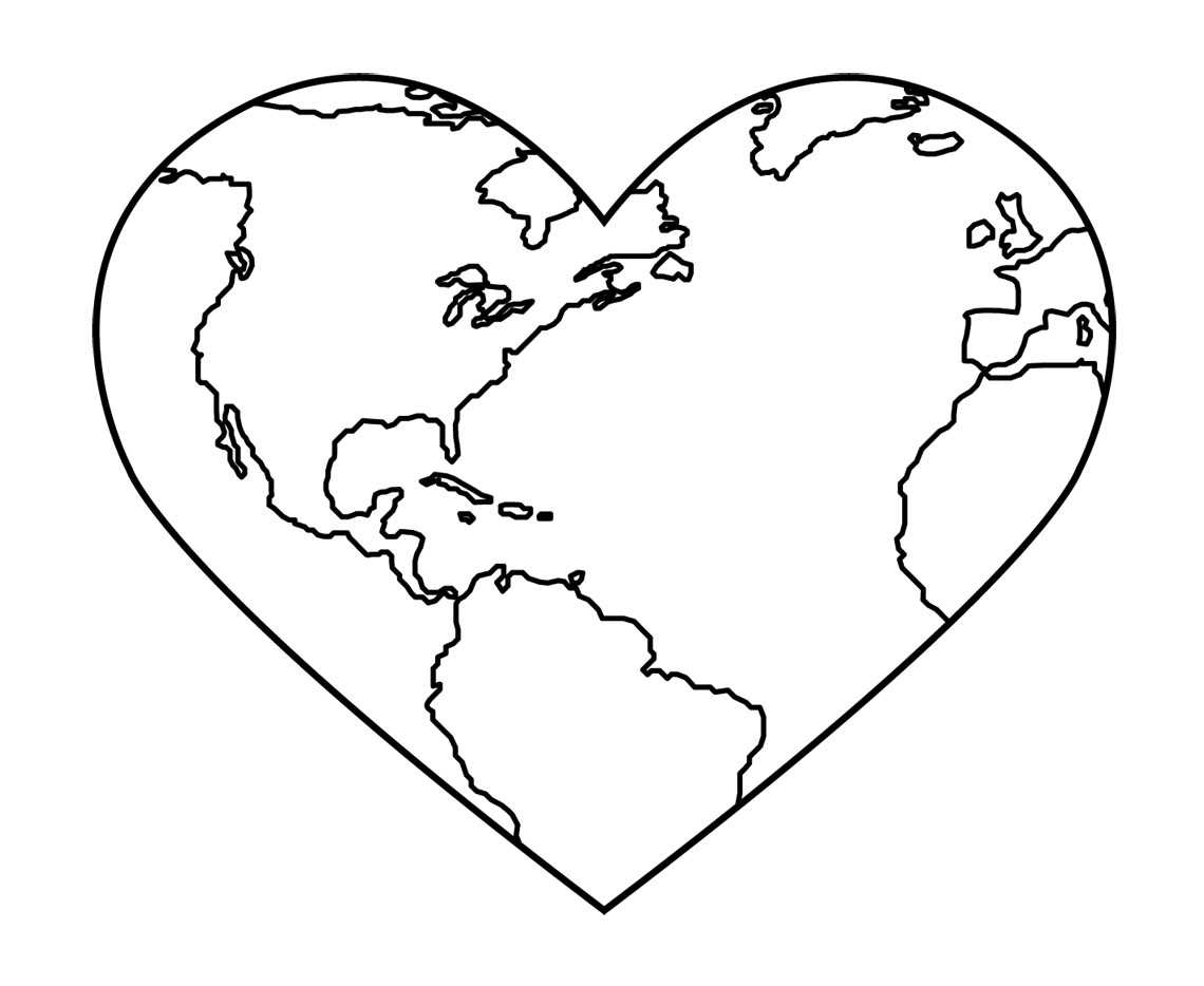 Earth Clipart Black And White Free Clipart Images Clipartix