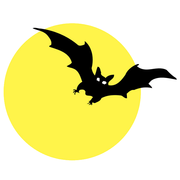 Moon with bats halloween cartoon clip art 2 - Cliparting.com (600 x 600 Pixel)