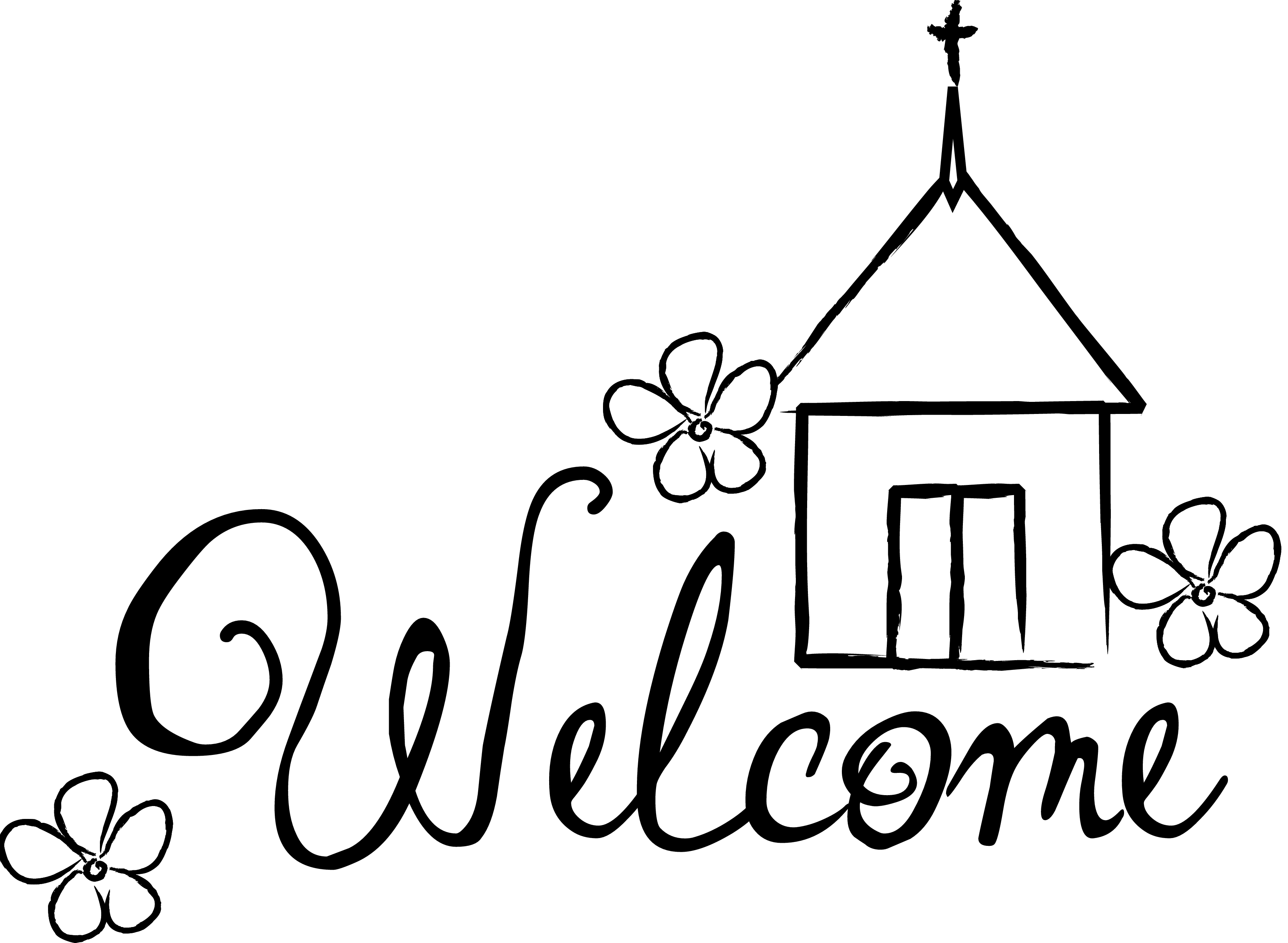 Welcome To The Church Family Clipart