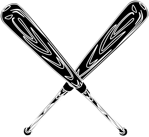 Baseball bat softball bats crossed clipart clipart kid ... (600 x 551 Pixel)