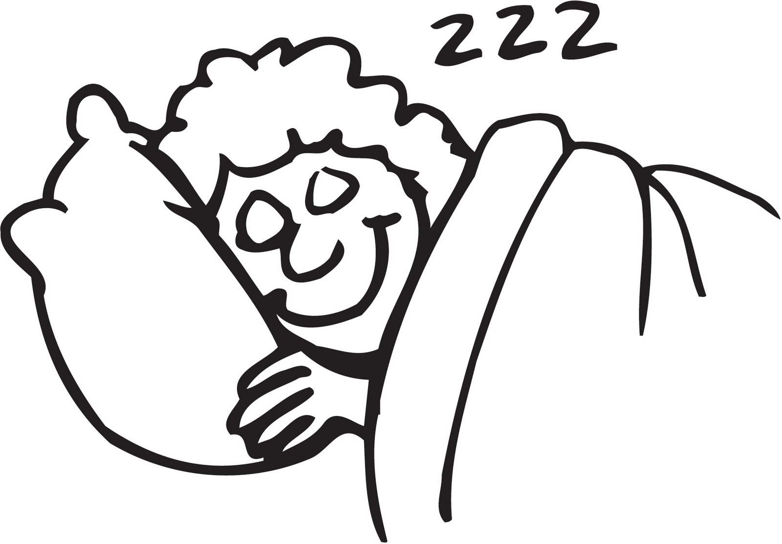 Moon Sleeping Clipart