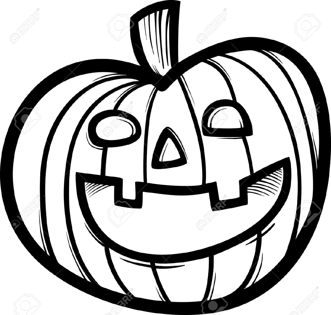 Best Pumpkin Clipart Black And White