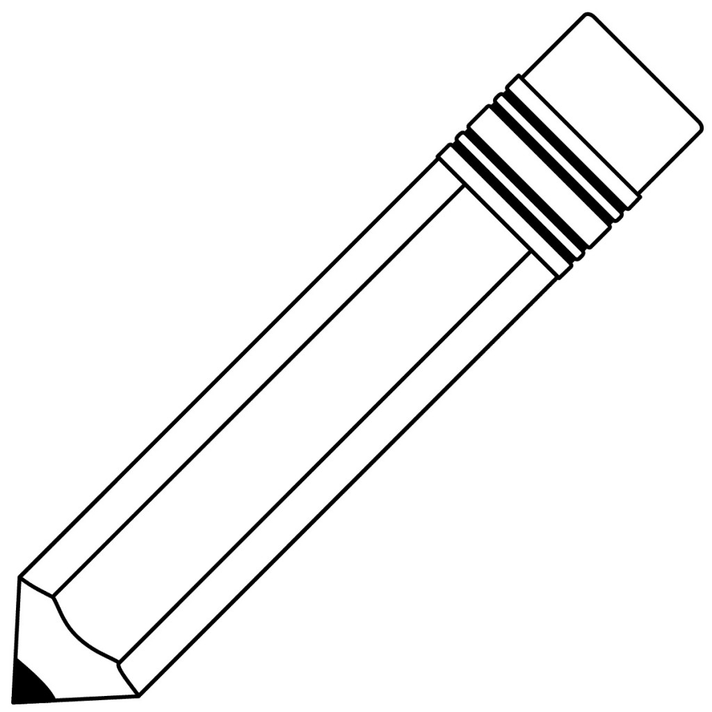 Best Pencil Clipart Black And White