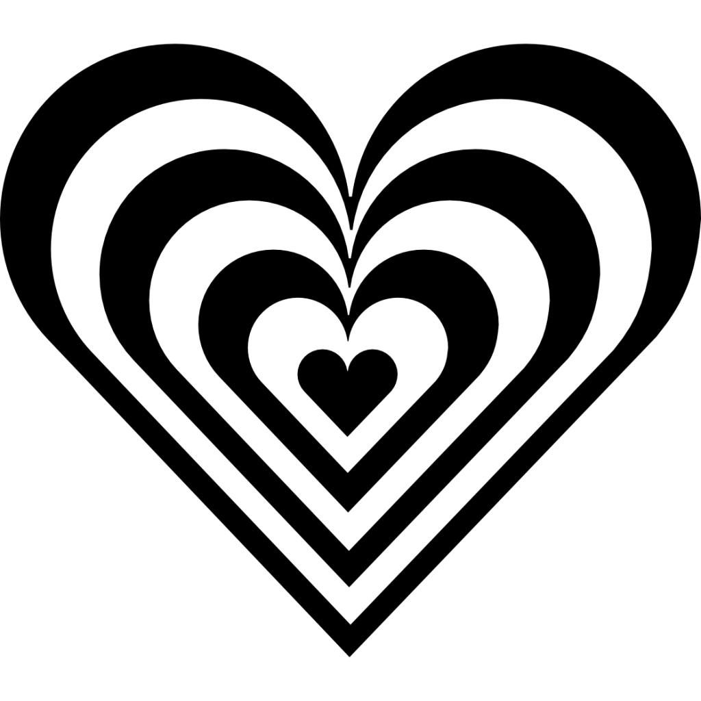 Best Heart Clipart Black And White #1331 - Clipartion.com (1024 x 1024 Pixel)