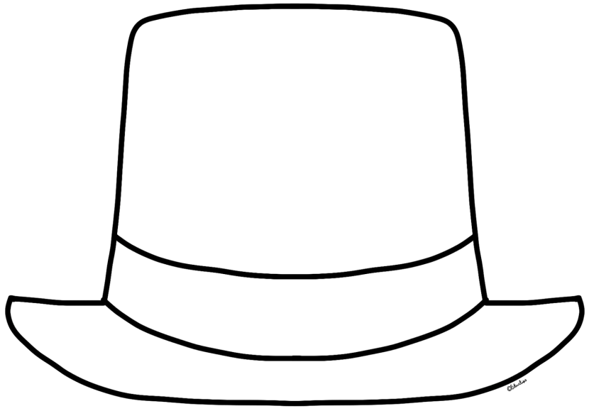And Black Art Outline Clip Top White Hat