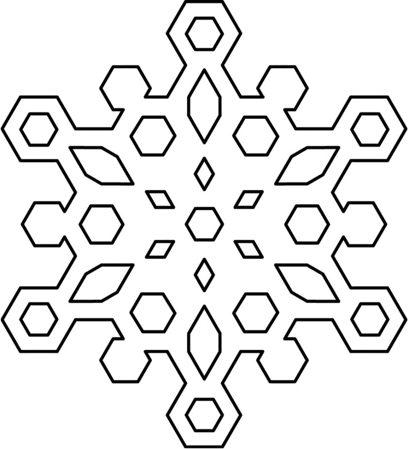 snowflakes clip art black and white winter