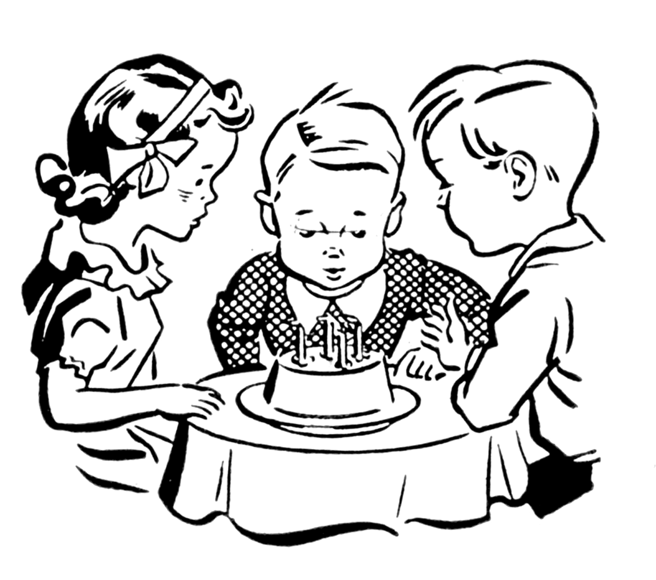 Best Birthday Party Clipart Black And White