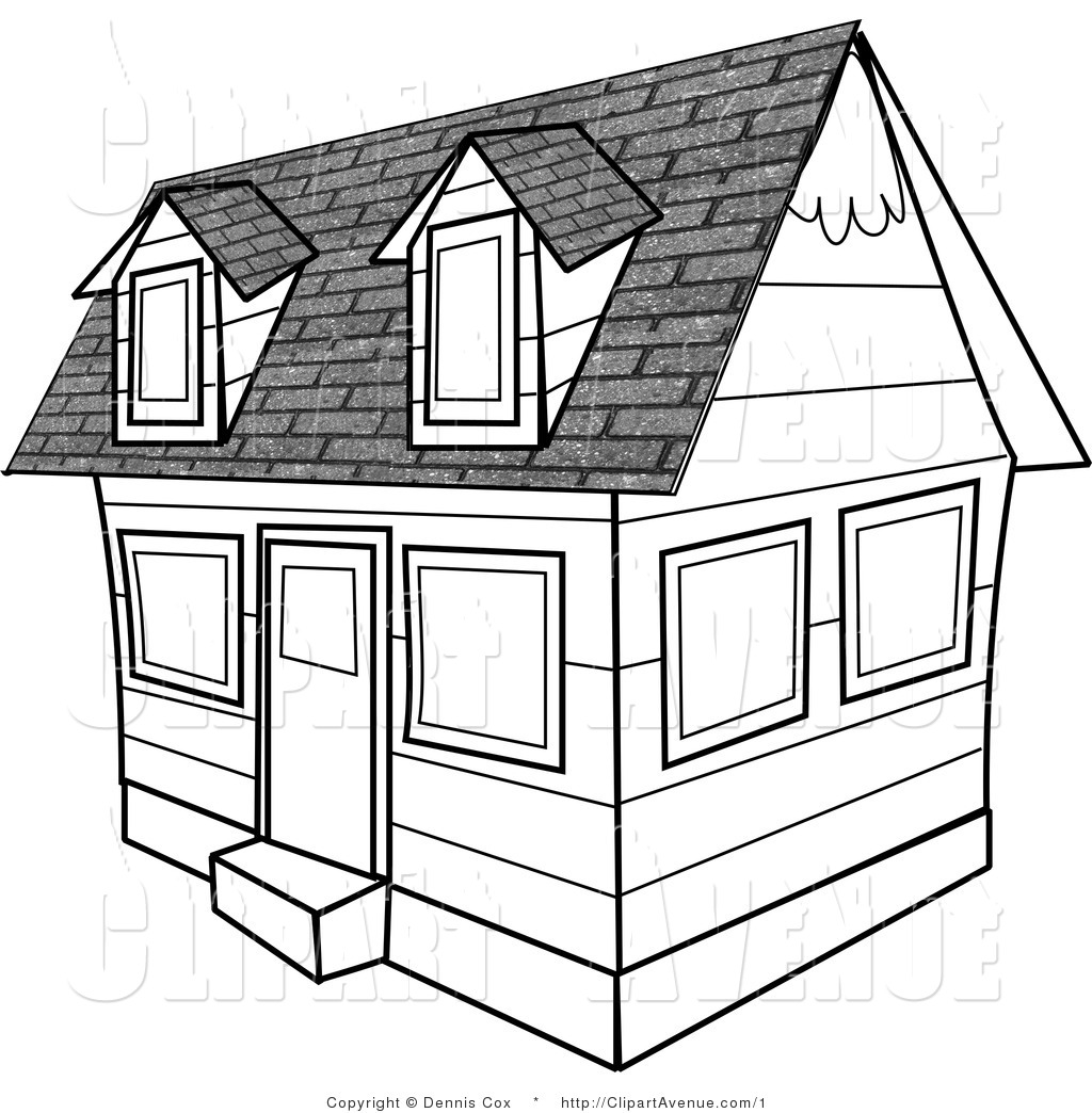 Best School Building Clipart Black And White