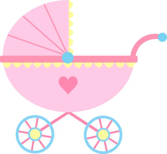 Pink Carriage Baby Art Clip