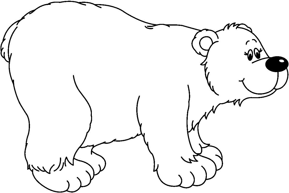 Bear black and white clipart - Clipartix (1196 x 800 Pixel)