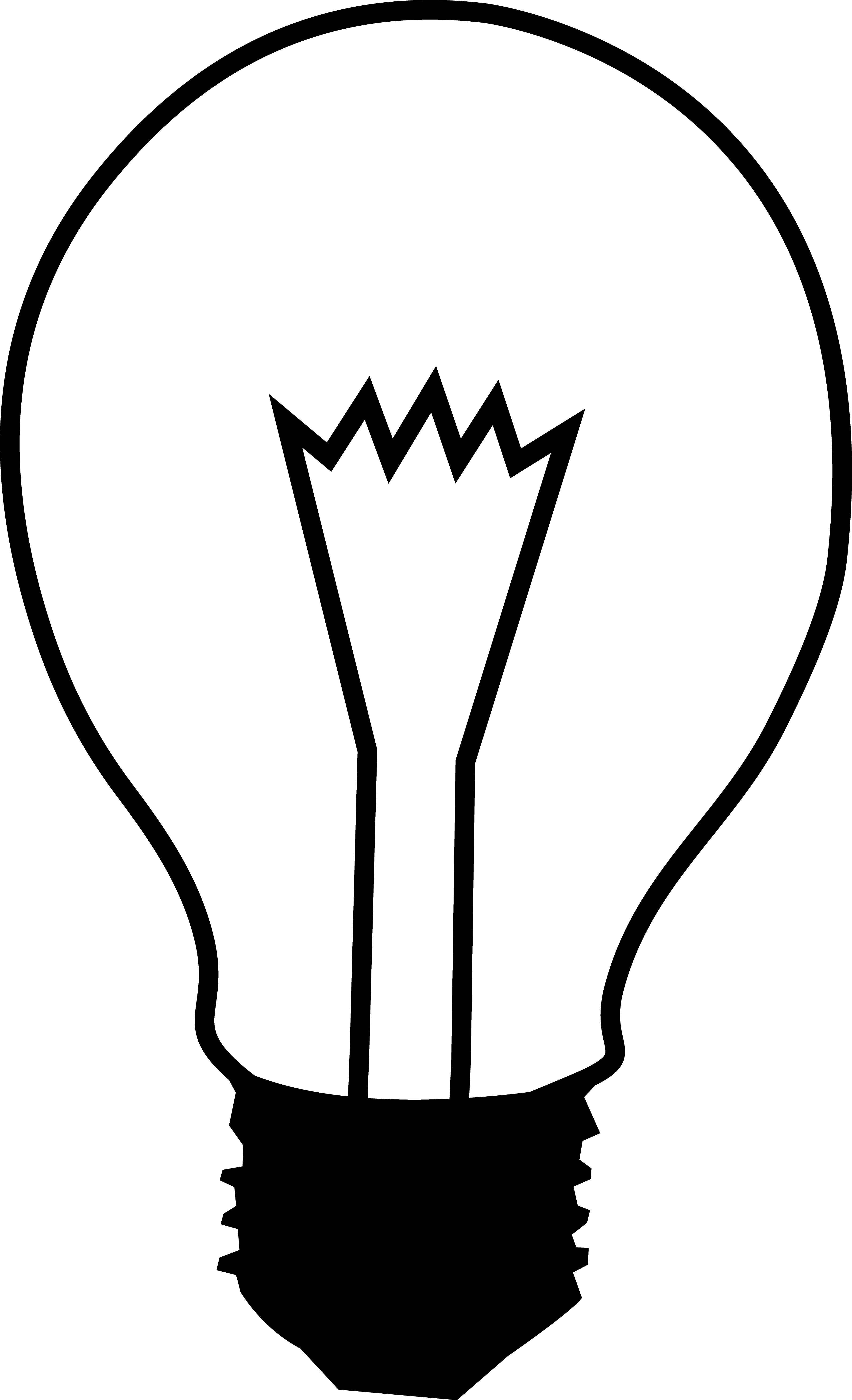 Light Bulb Clipart Black And White Free Clipart Clipartbold