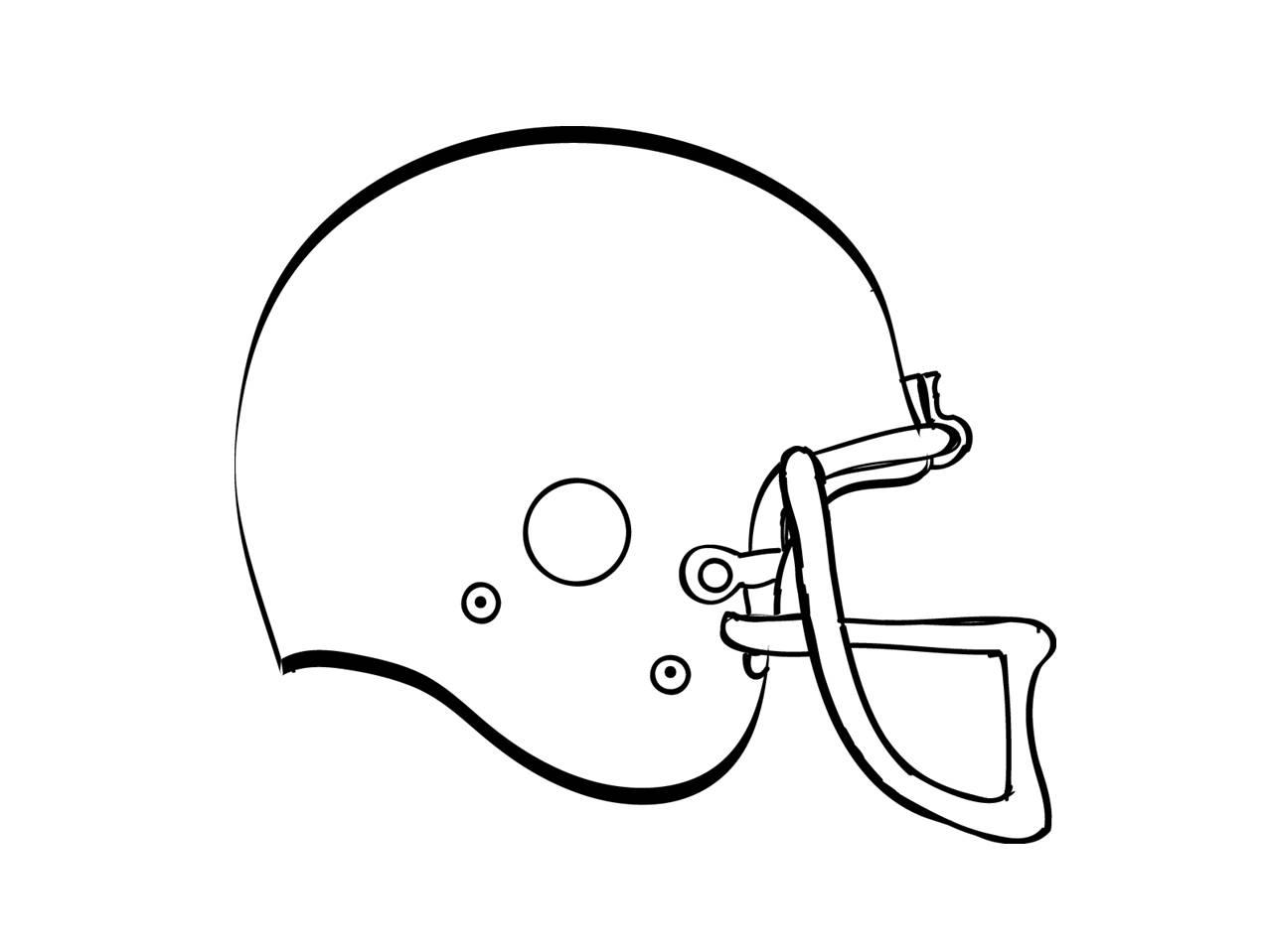 Blank Football Helmet Clip Art Cliparts