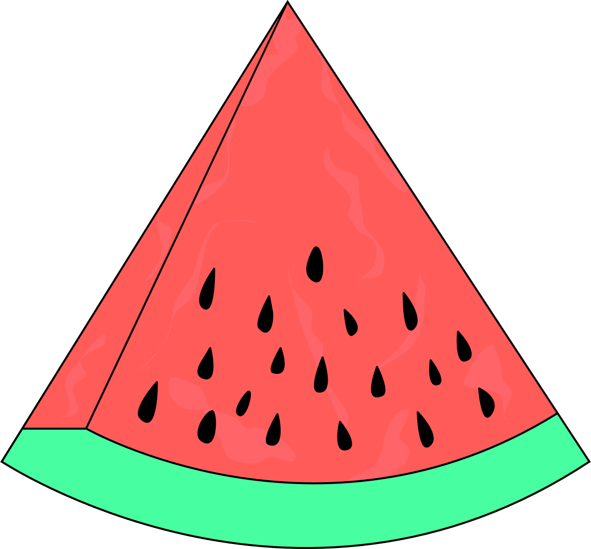 Popular items for watermelon clipart on image 5 - Clipartix (1194 x 1109 Pixel)