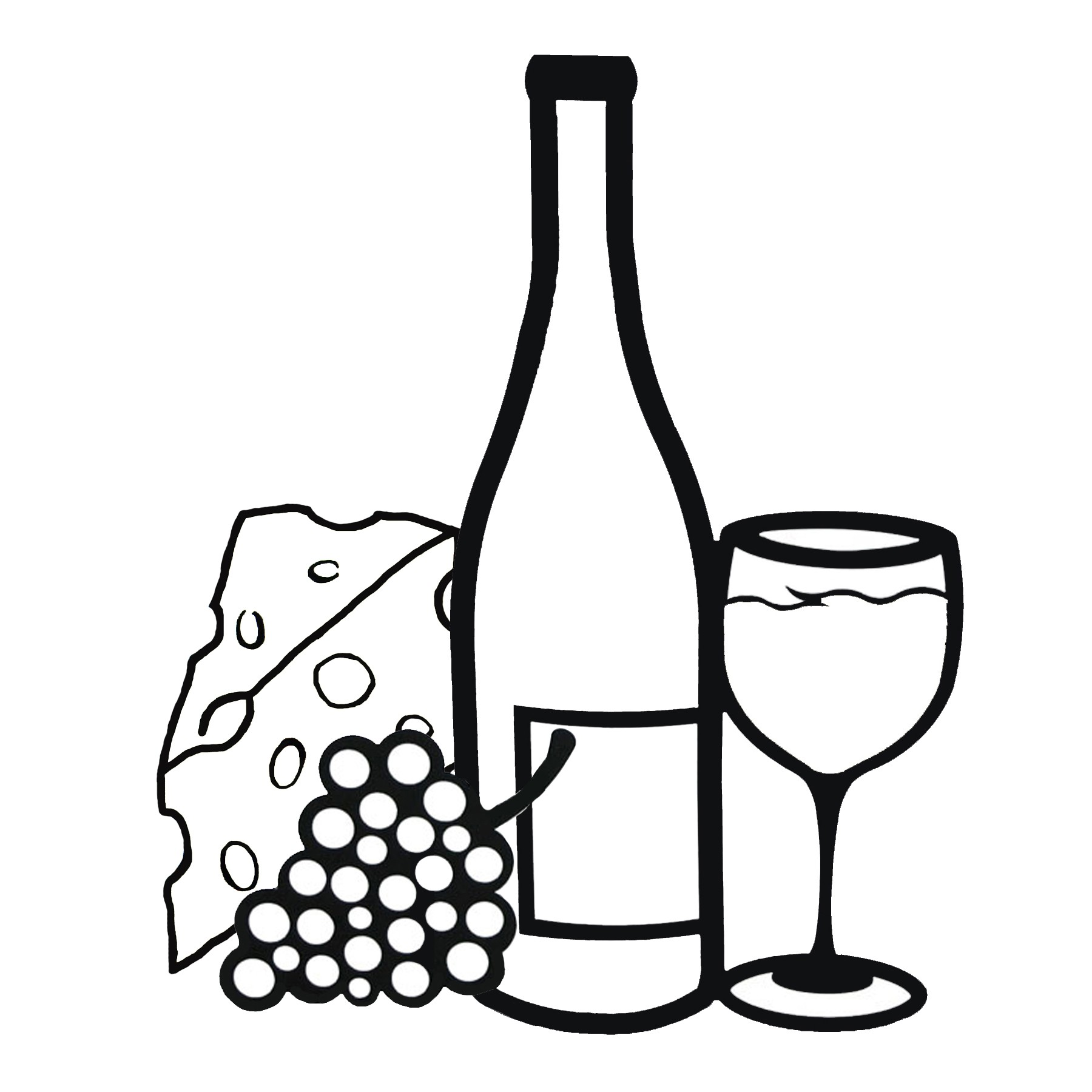 Wine Bottle Gallery For Black And White Wine Clip Art 2