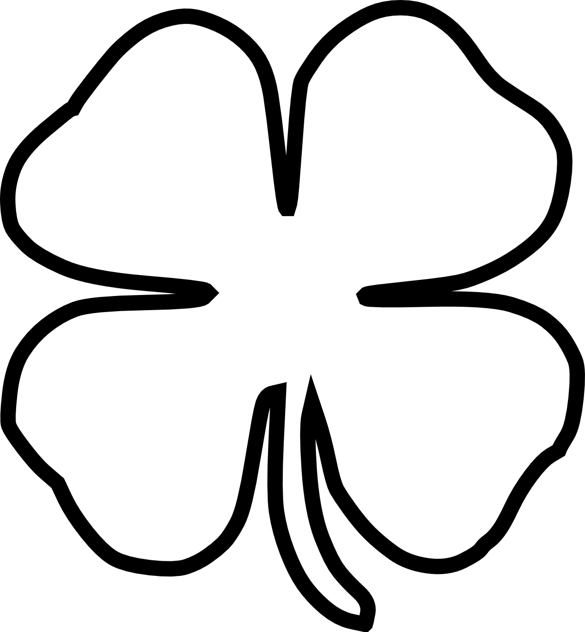 4 Leaf Clover Clip Art Of A Three And Four Leaf Clovers