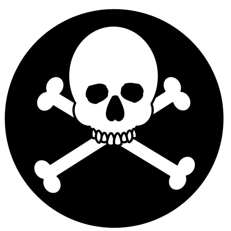 Crossbones Clip And Art Black Skull