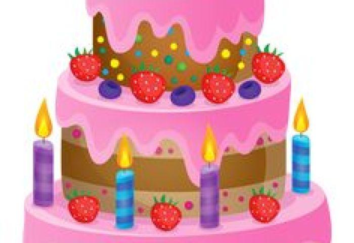 Drawing Birthday Cake Clip Art Cliparts Variados Mm Clipartix