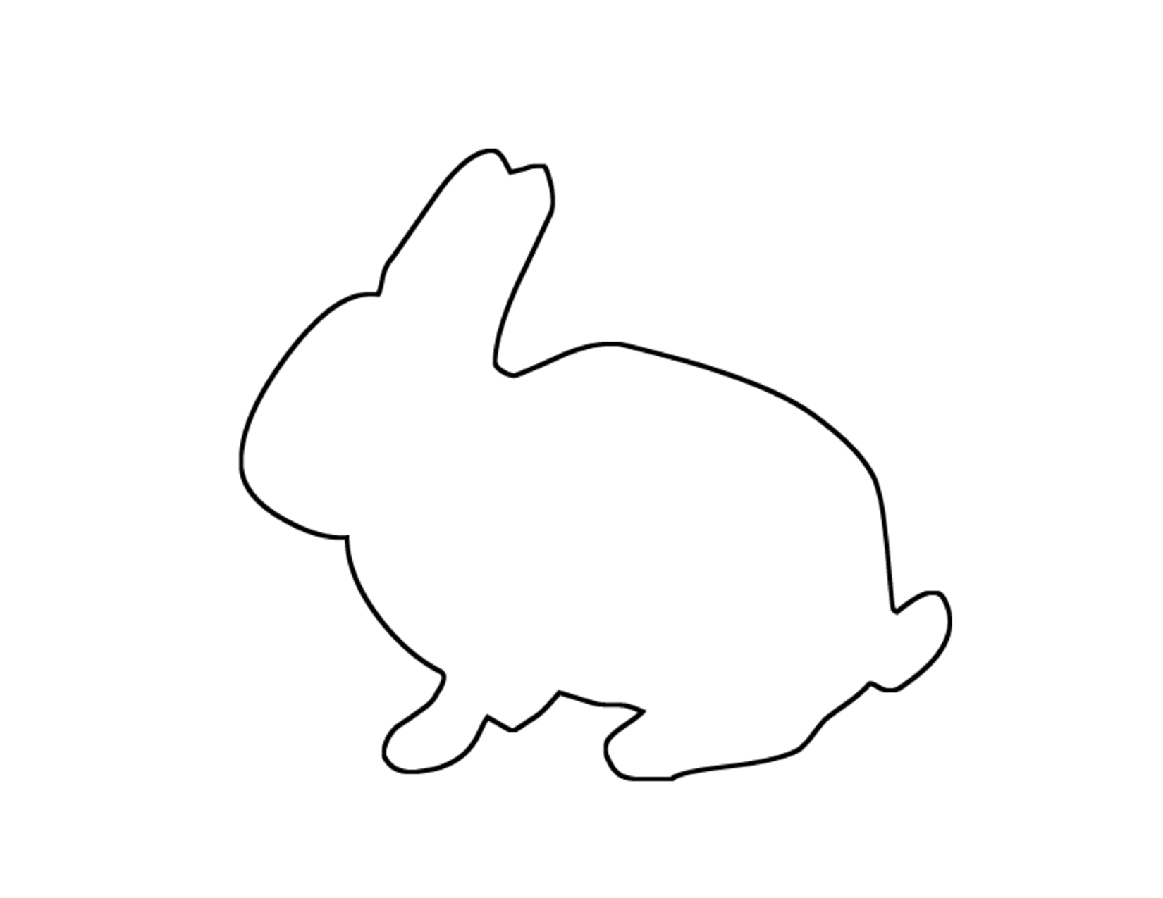 Bunny Outline Photos Of Bunny Cut Out Outline Printable Png