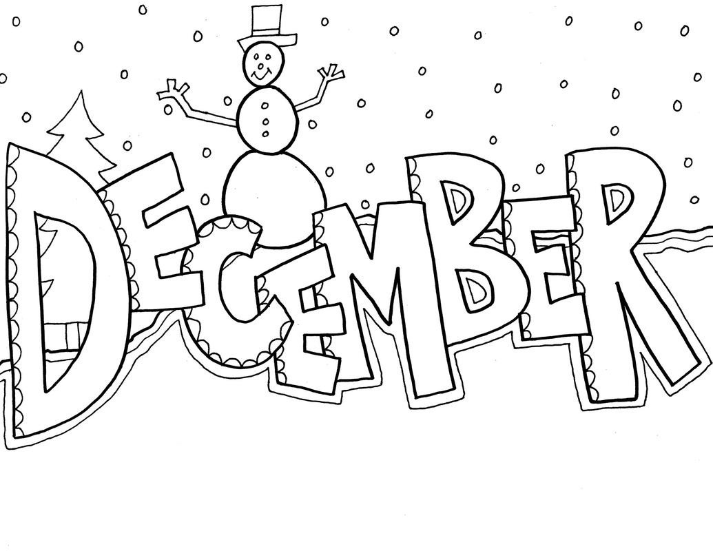 December Clipart Free Black And White Clipartxtras