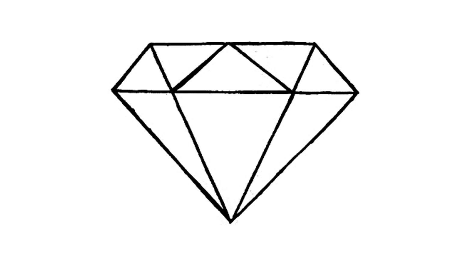 Simple 3d Diamond Drawing How To Draw A Easy Youtube