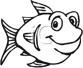 Cute Fish Clip Art Black And White Free Clipart Images Jpg Clipartix