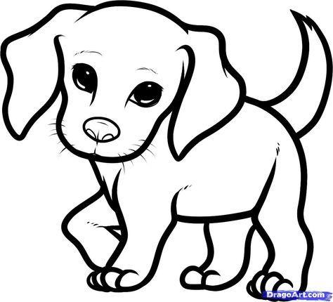 Cute Drawing Of A Puppy Free Download On Clipartmag