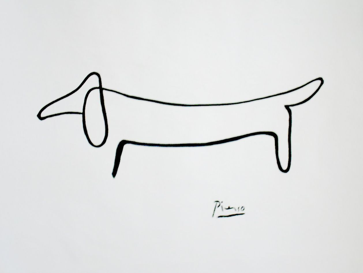 Picasso Dachshund Drawing