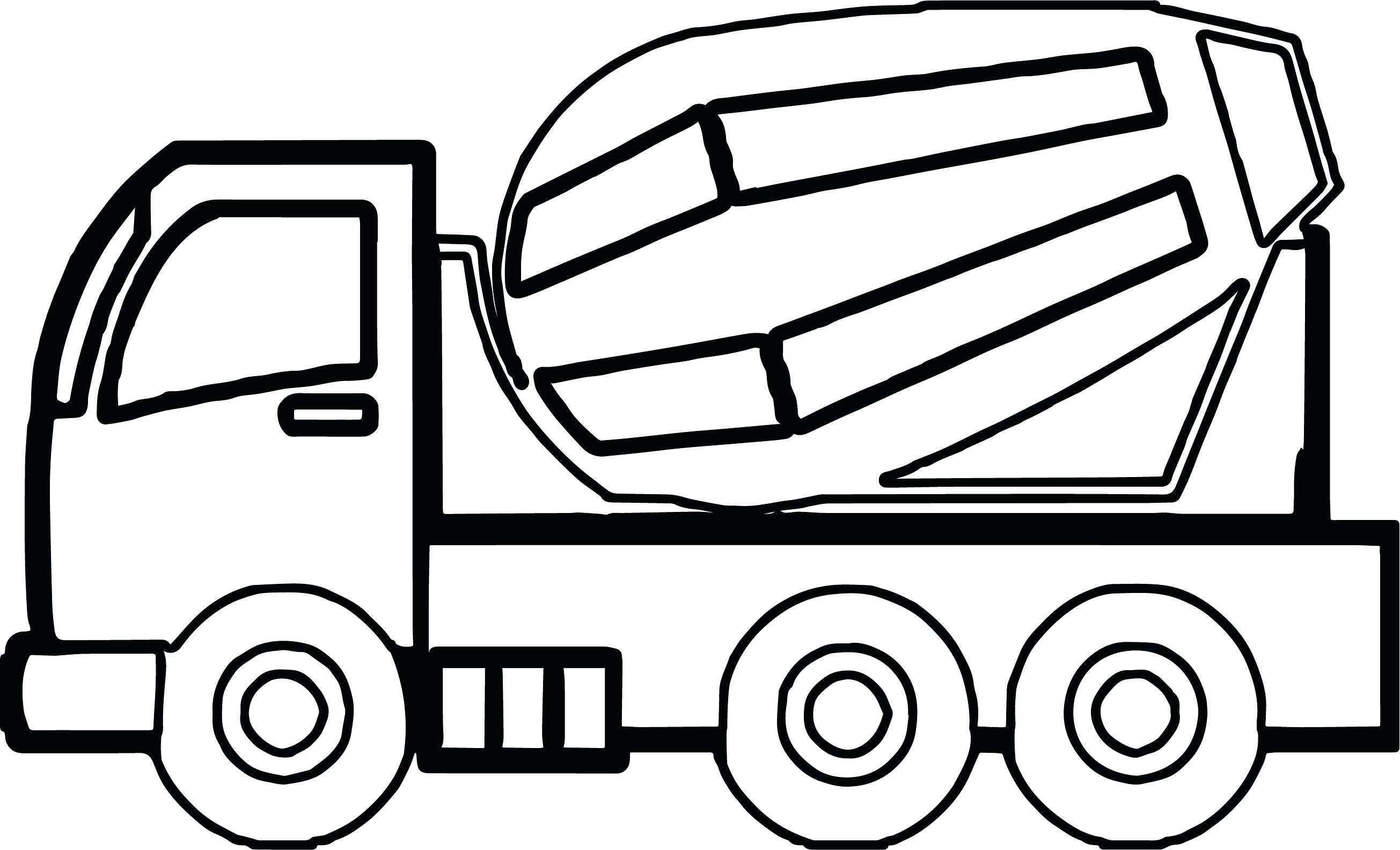 Dump Truck Drawing