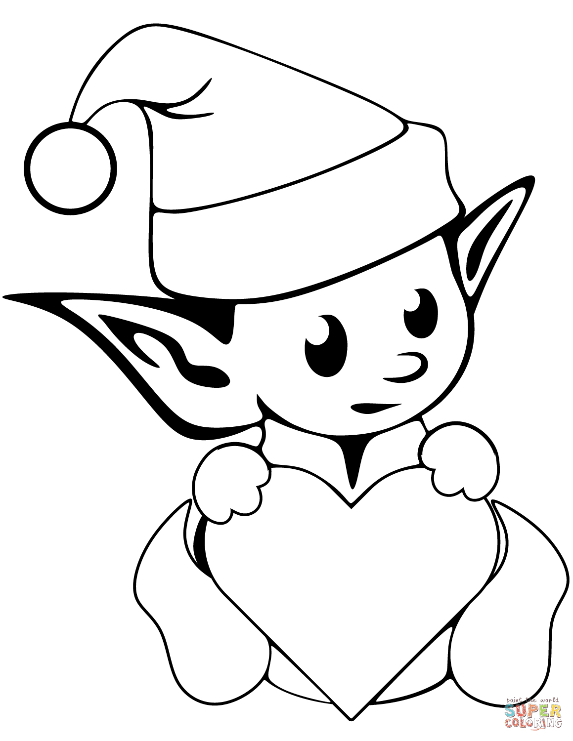 Elf On The Shelf Drawing