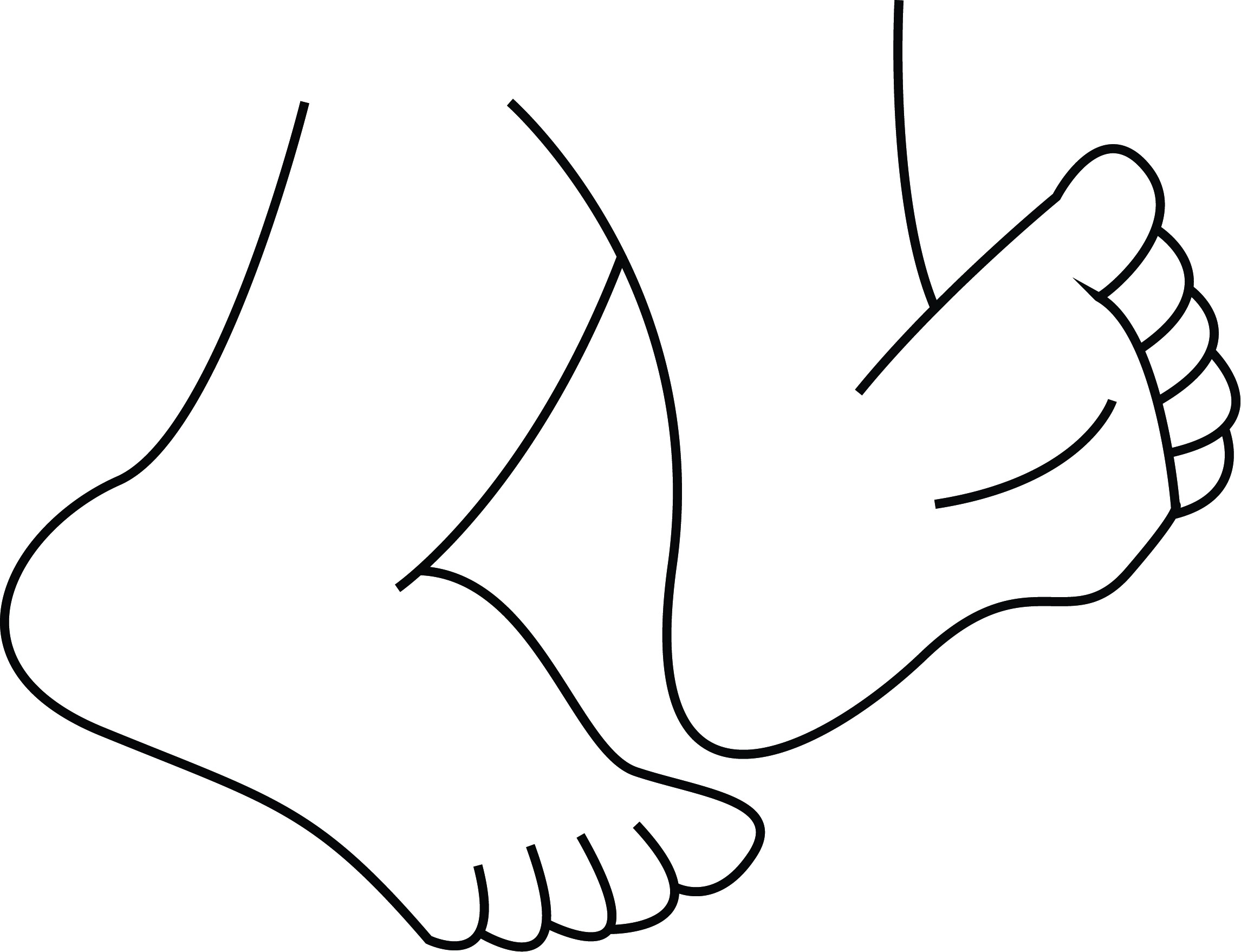 Feet Walking Drawing