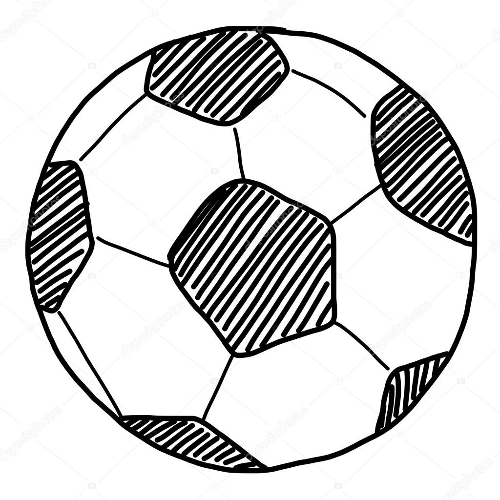 Football Ball Drawing