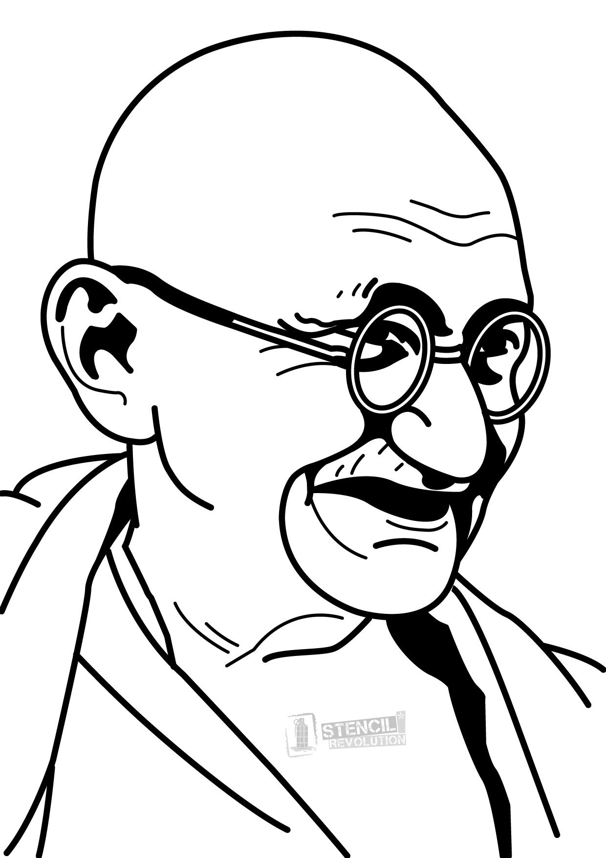 Gandhi Pencil Drawing