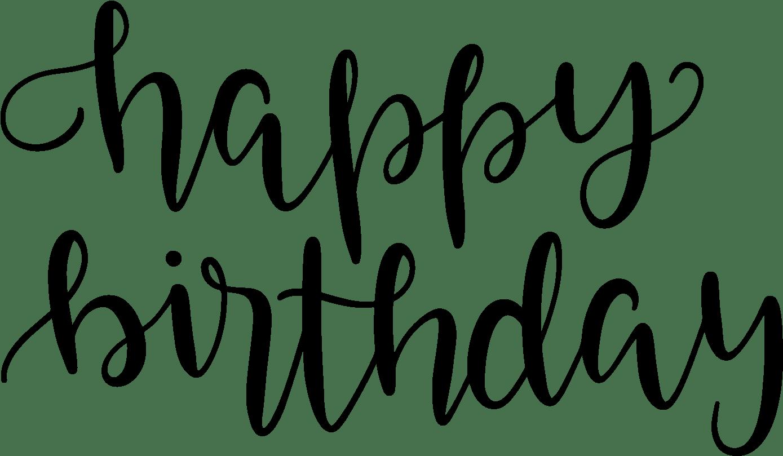 Happy Birthday Line Drawing