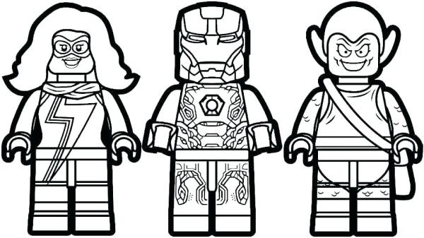 lego avengers coloring pages # 7
