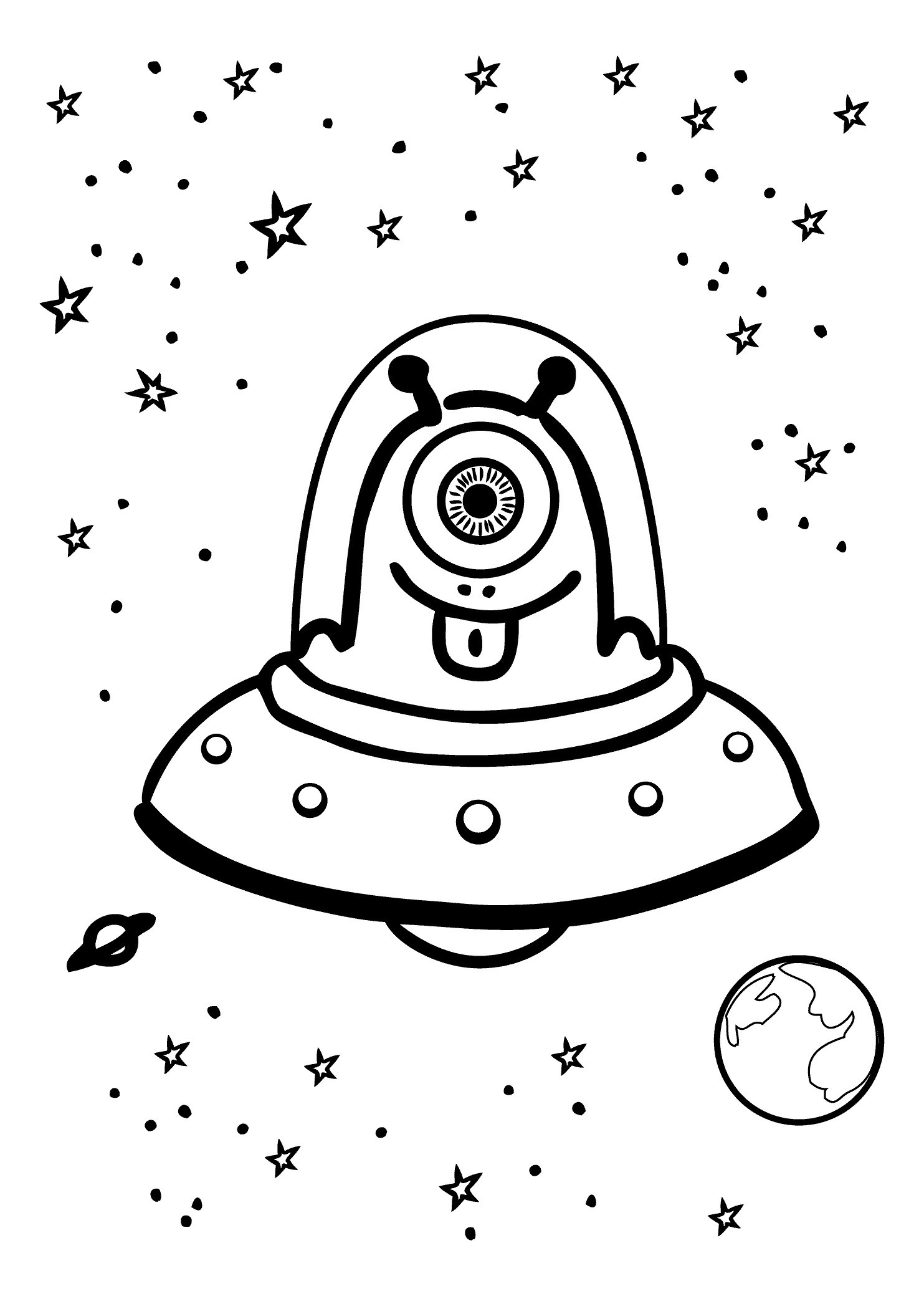 Outer Space Drawing