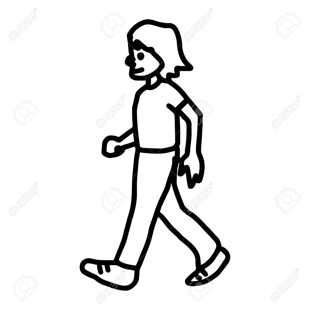 Collection Of Man Walking Clipart