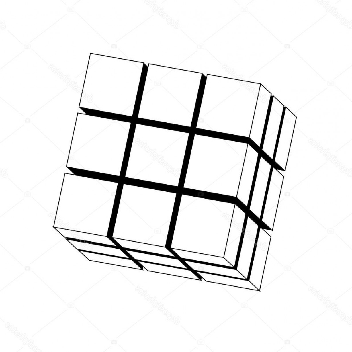 Rubiks Cube Drawing
