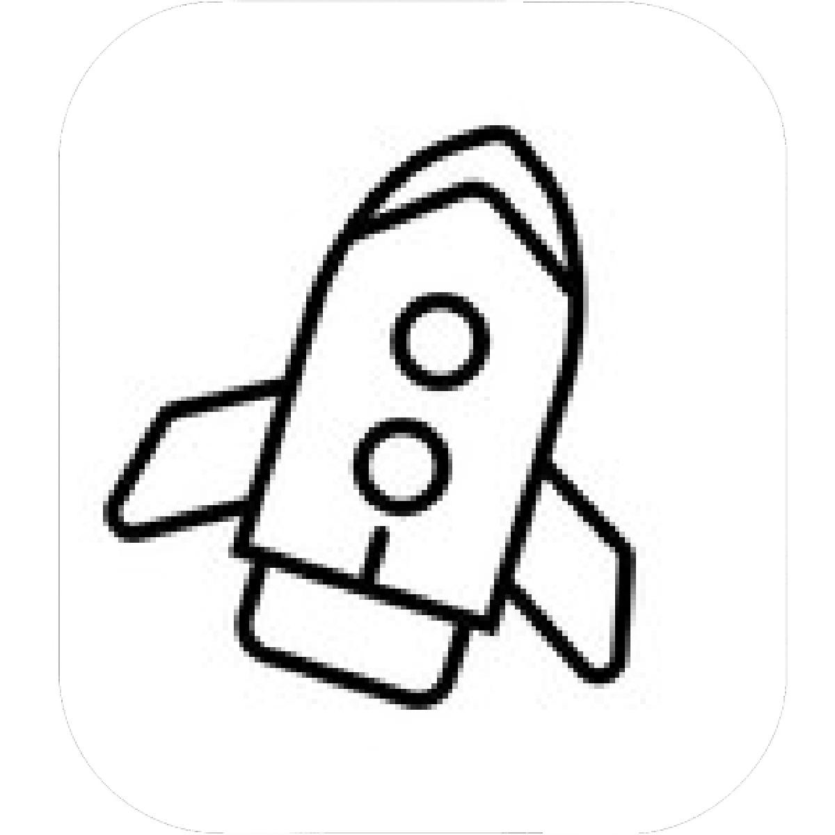 Simple Rocket Ship Drawing
