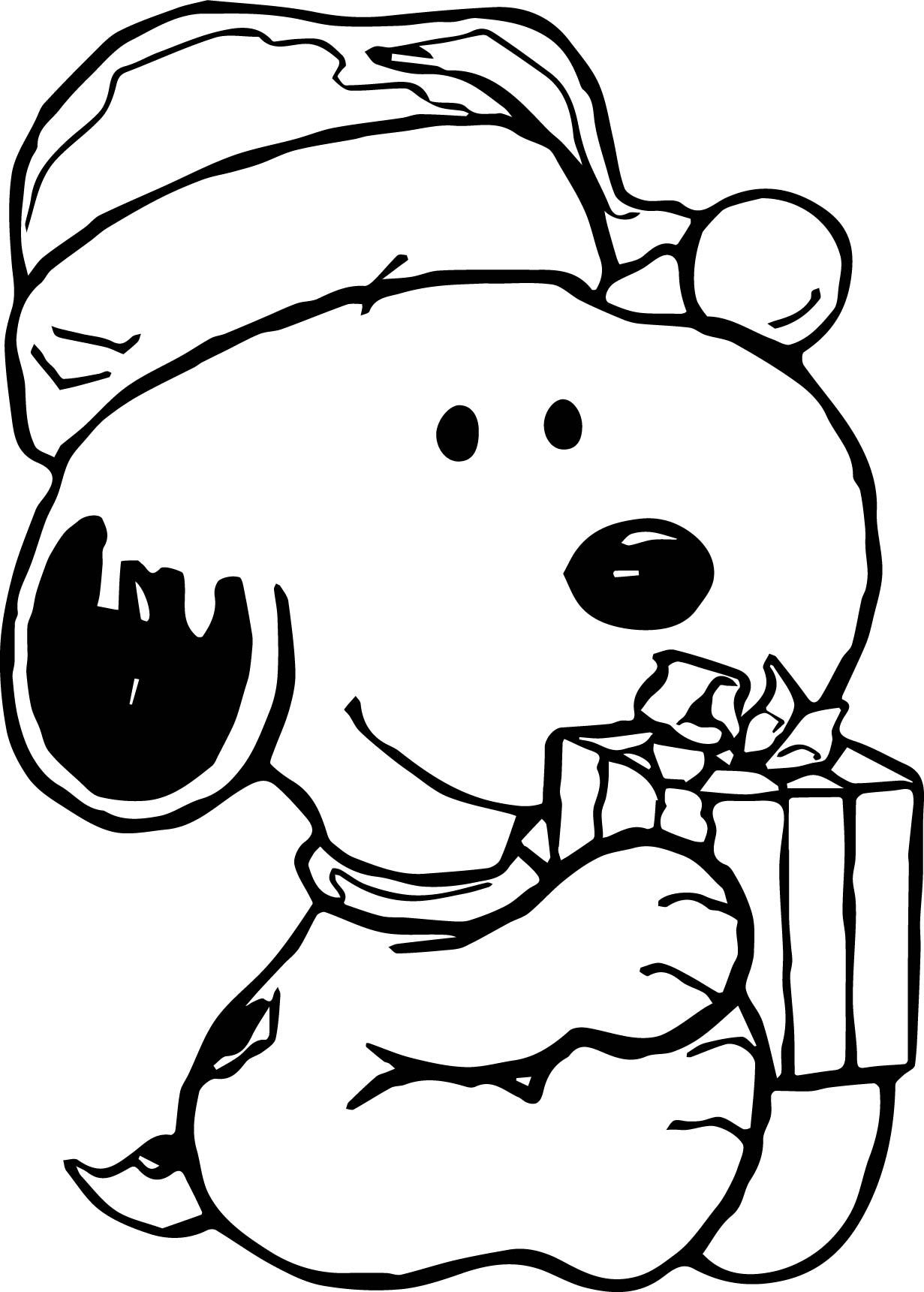 Snoopy Christmas Drawing