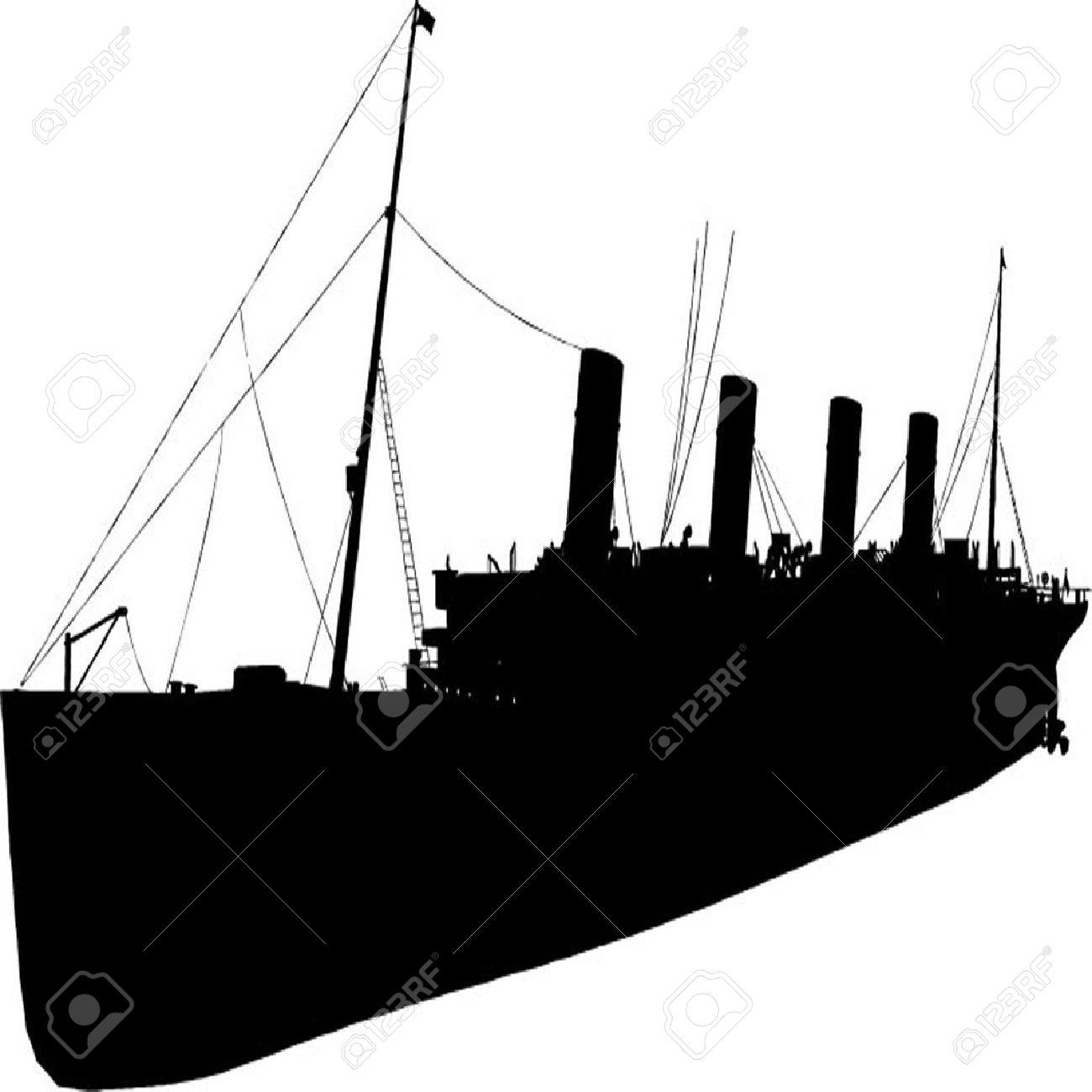 Titanic Ship Drawing