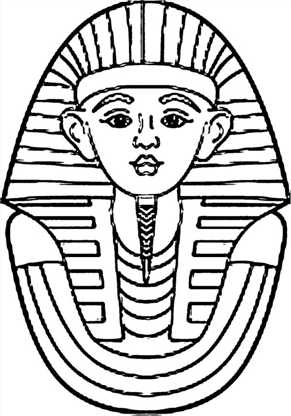 king tut coloring page # 7