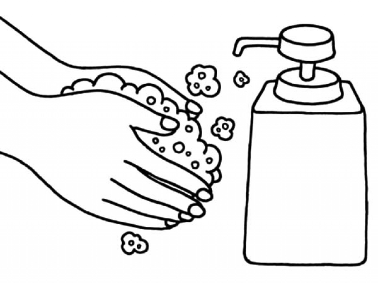 Washing Hands Drawing