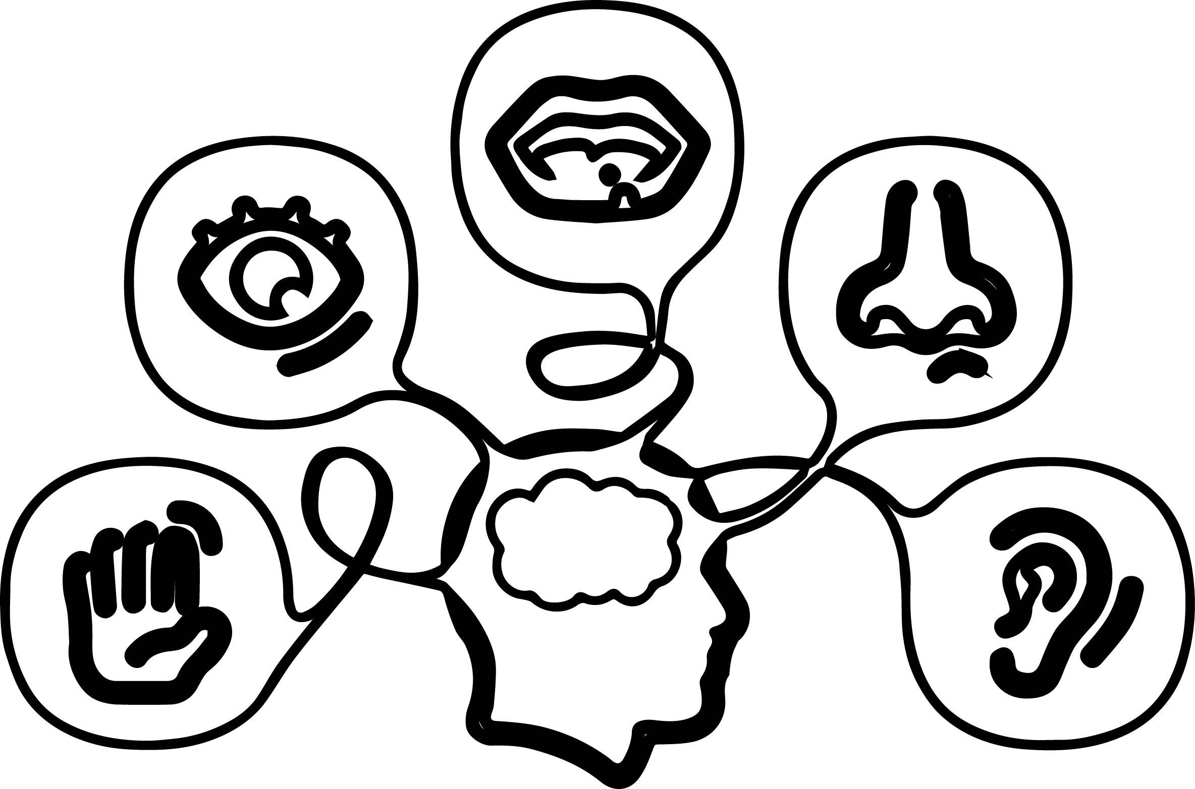 5 Senses Coloring Pages